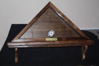 Large Hardwood Xpress Flag Box with Shelf