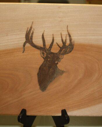 Deer head silhouette cutting board