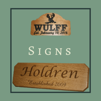 handcrafted wooden sign