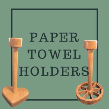 Wooden Paper towel holders