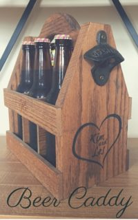 wooden bottle or Beer Caddy