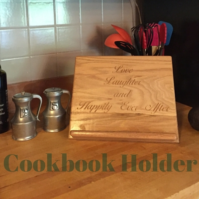 hardwood Cookbook Holder