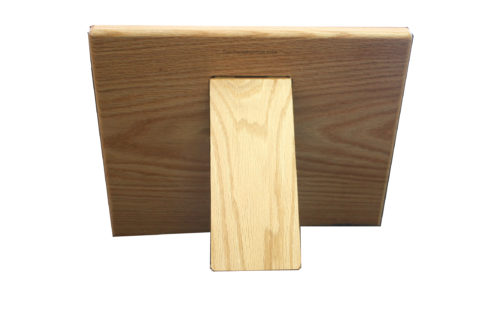 Hardwood Cookbook holder (back)