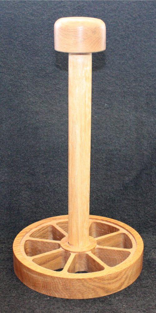 Oak paper towel holder