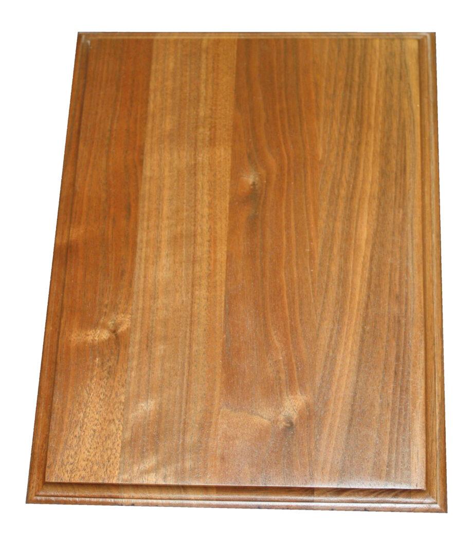 hardwood rectangle plaque