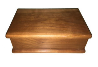 hinged lid wooden keepsake box