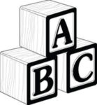 ABC block for laser engraving