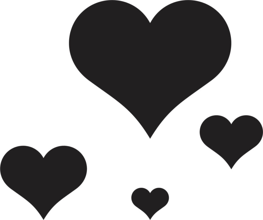 Hearts for laser engraving