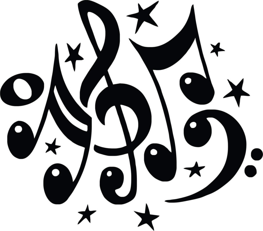 music notes for laser engraving