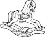laser engraving rocking horse