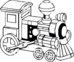 Train image for laser engraving on our hardwood products