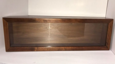 walnut medal case