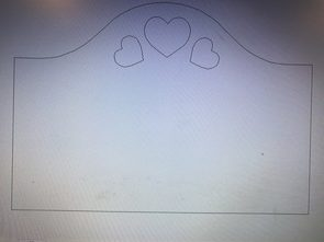 Heart Inlay Template
